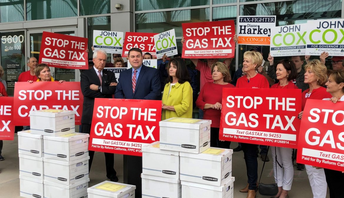 Nearly one million signatures collected to repeal the gas tax hike
